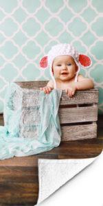Voorbeeld FotoHanddoek baby1 op handdoek