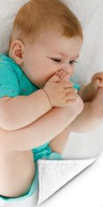 Voorbeeld FotoHanddoek baby2 op handdoek