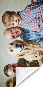 Fotohanddoek-opa-hond